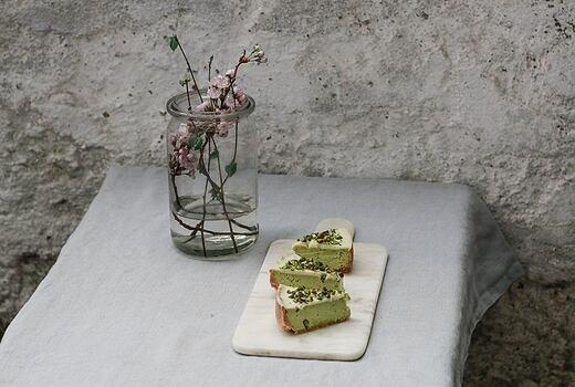 Pistáciový cheesecake s bílou čokoládou