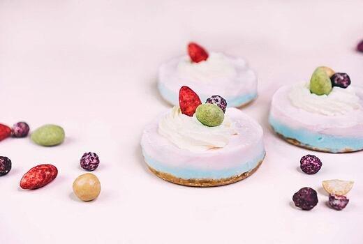 Dvoubarevný minicheesecake