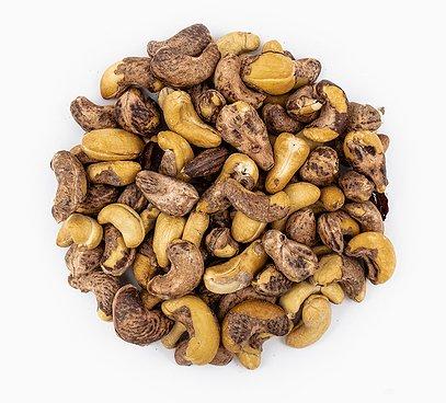 Kešu ořechy pražené solené se slupkou