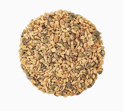 Pražené semienka s vločkami v mede so škoricou