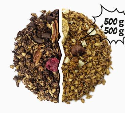 Granola kakaová + Granola skořicová