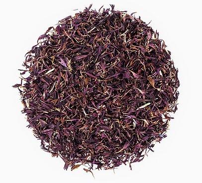 Jedlé fialové kvety nevädze (chrpa)