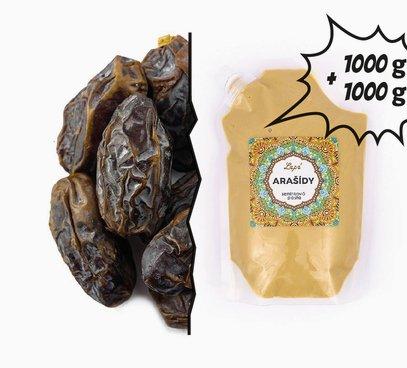 Datle Medjool + Arašídová pasta