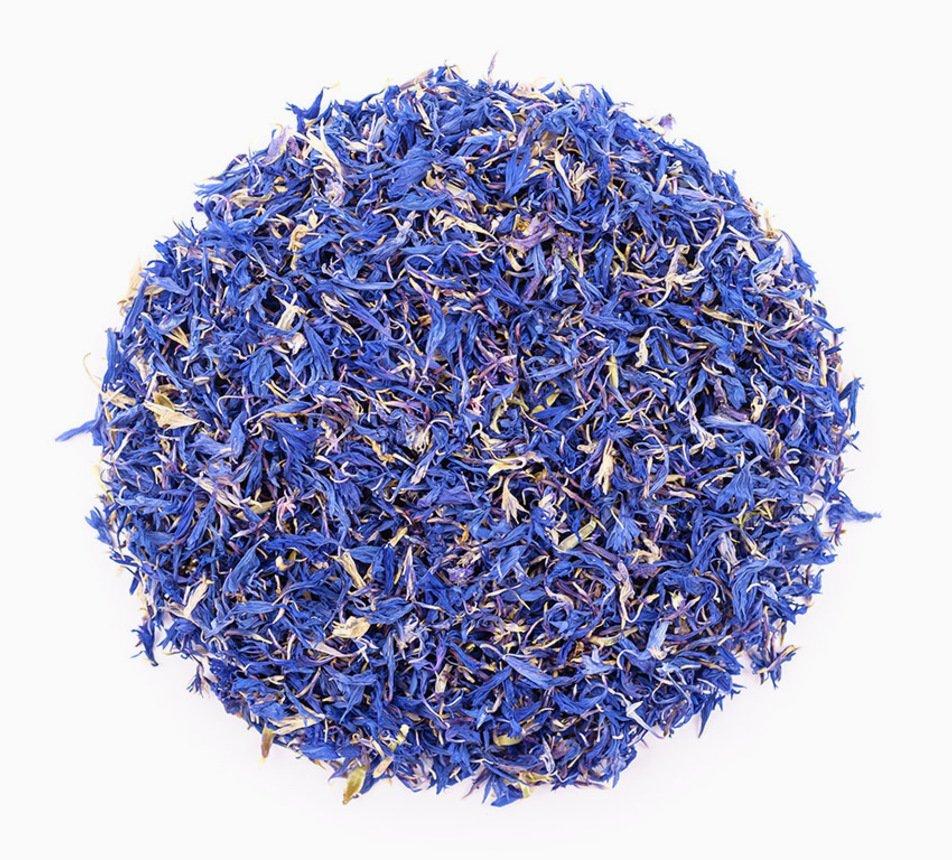 Jedlé modré květy chrpy