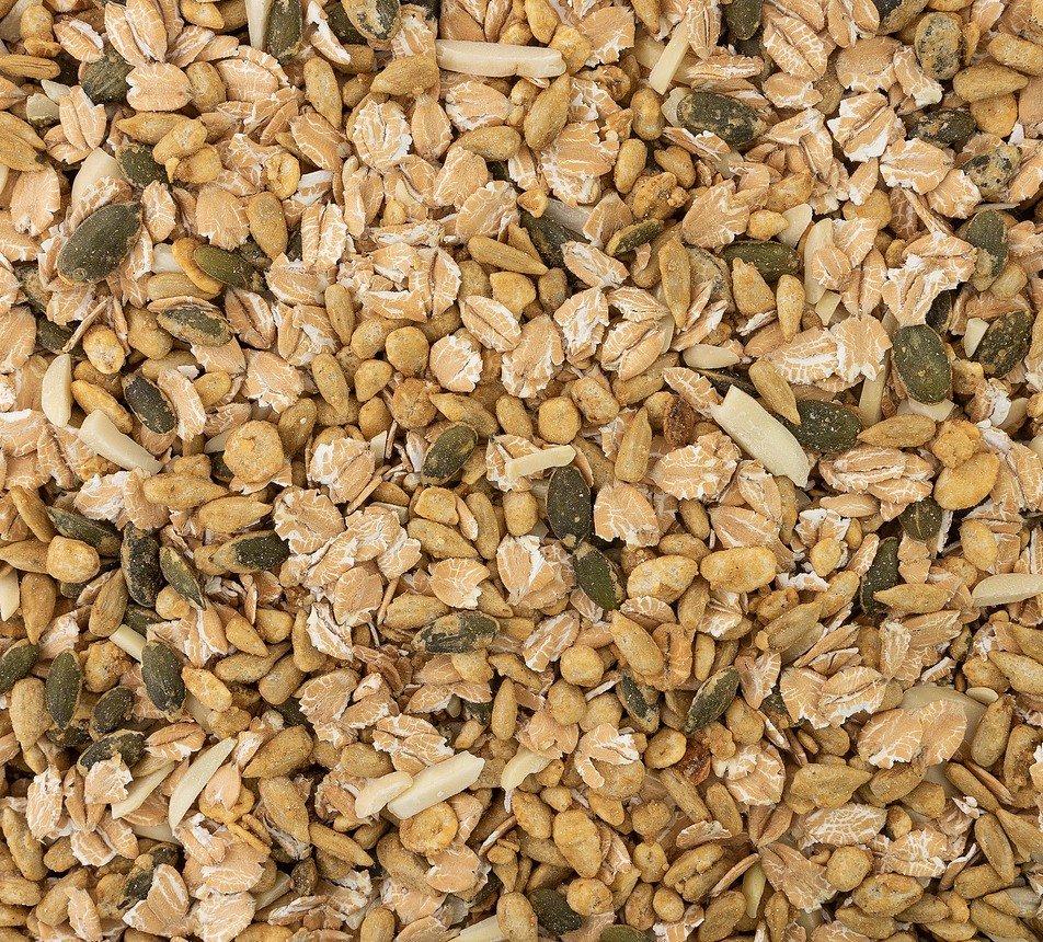 Pečená semínka s vločkami a mandlí