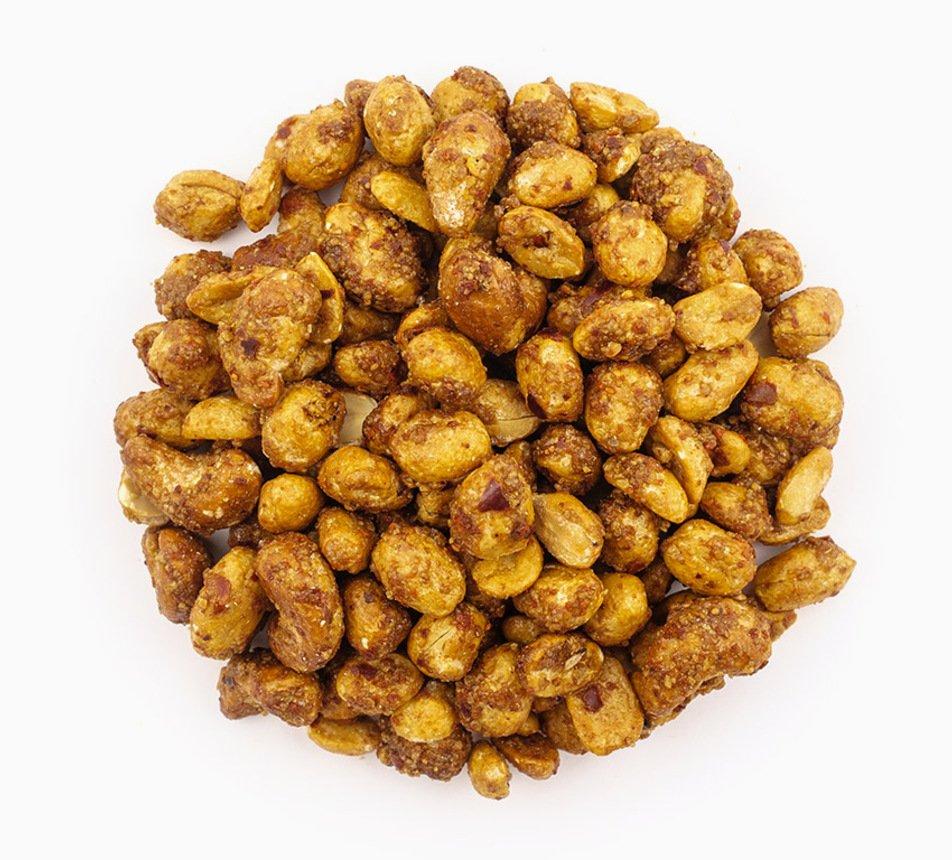 Arašídy a kešu v medu s chilli