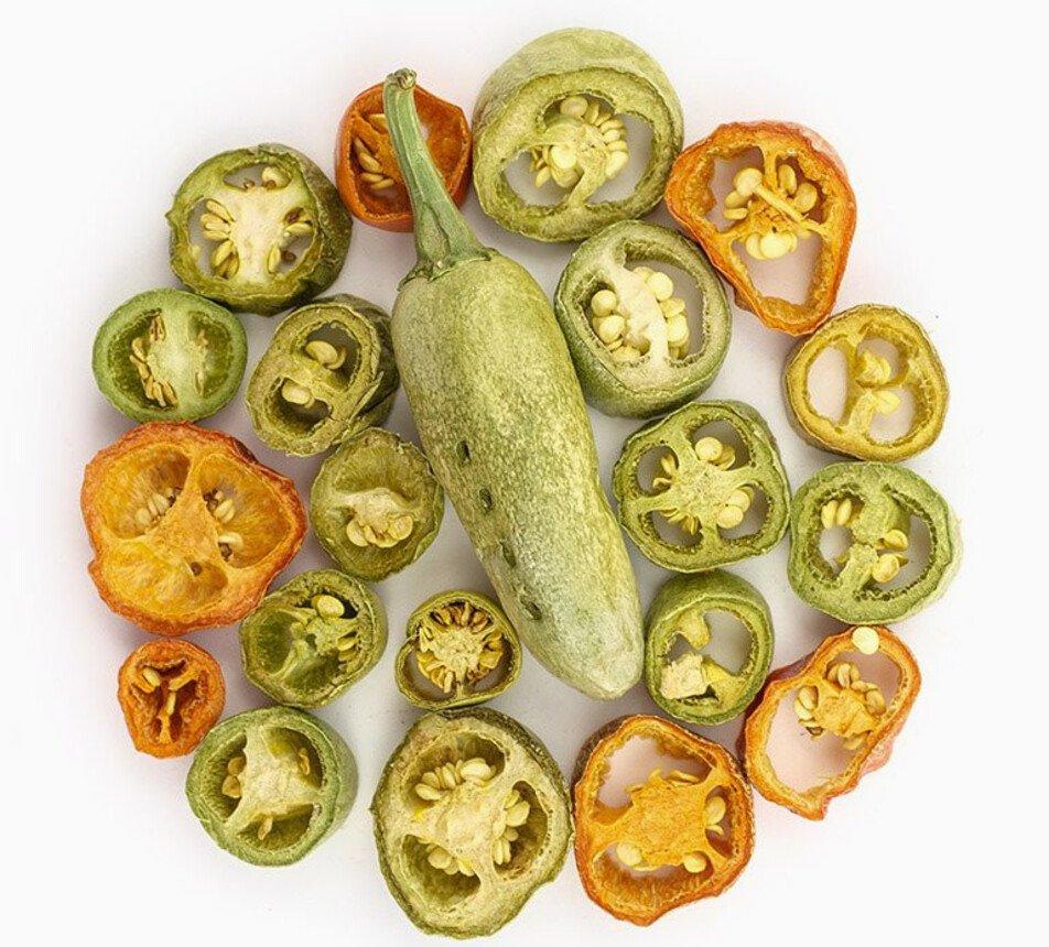 Jalapeňo papričky lyofilizované