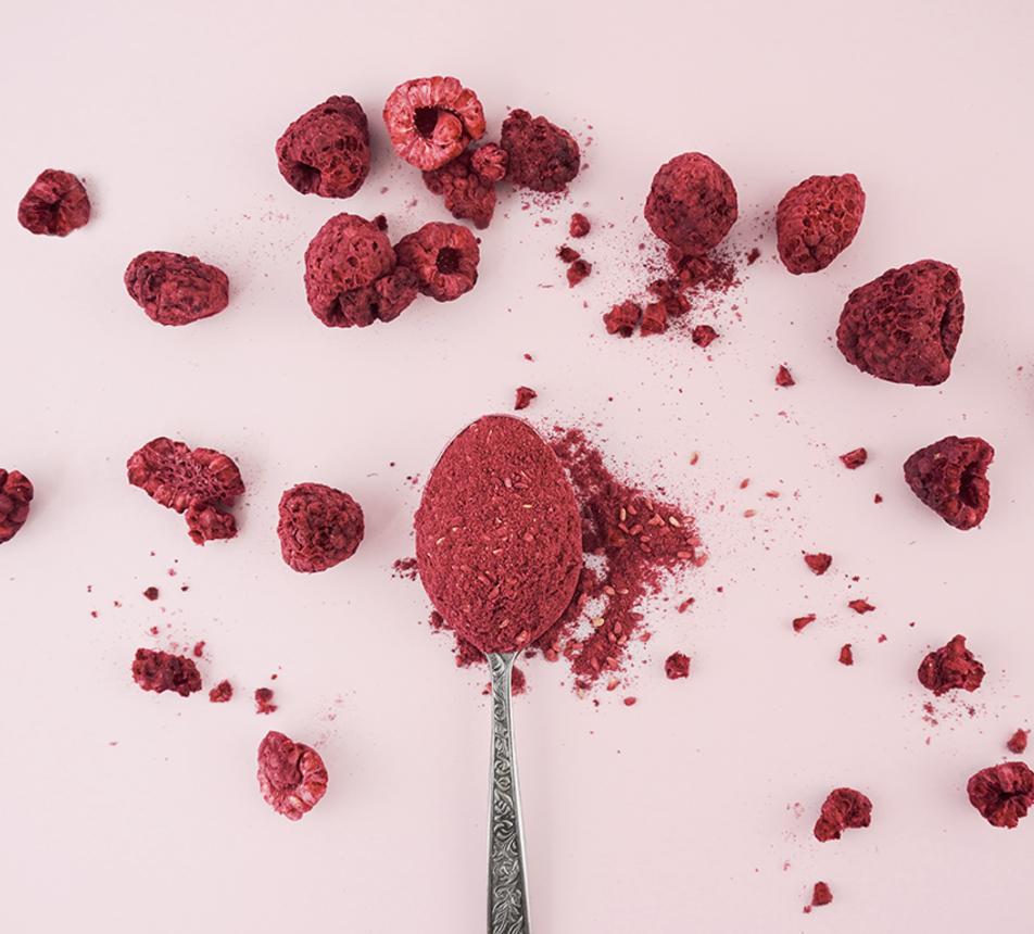 Maliny lyofilizované prášek