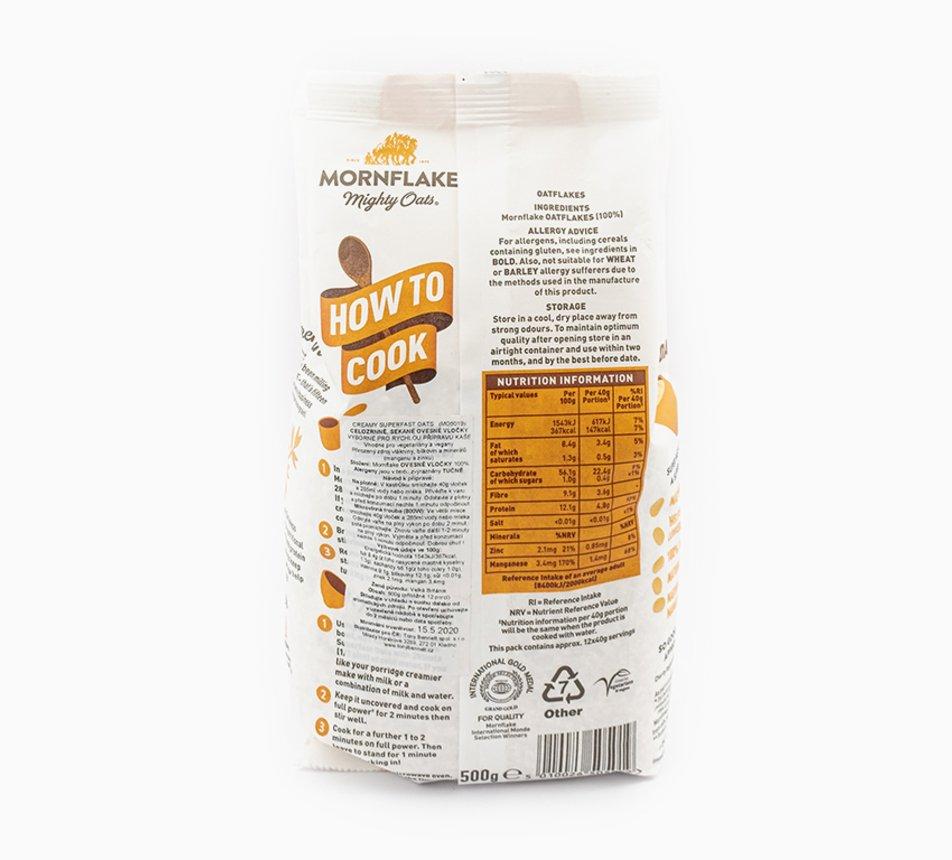 Mornflake ovesné vločky z Velké Británie
