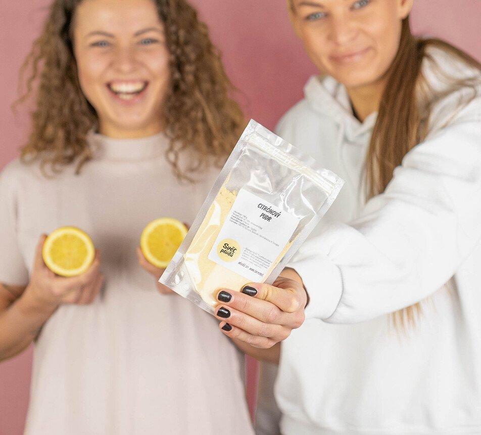 Citronový pudr prášek