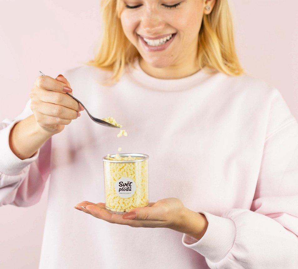 mozzarella lyofilizovana kosticky