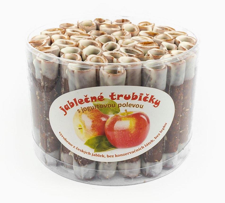 Jablečné trubičky s jogurtovou polevou dóza