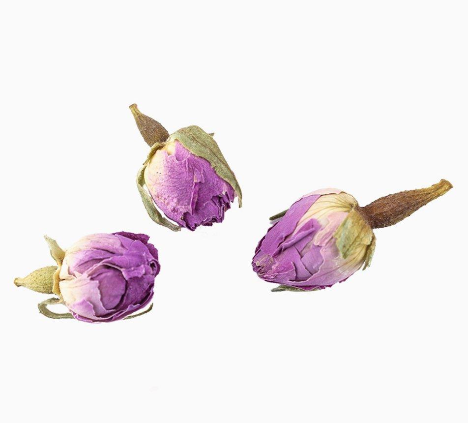 Jedlá růžová poupata růže
